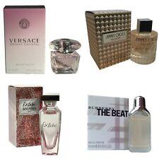 Ladies Miniature Mini Perfume Gift Travel x4 Versace Jimmy Choo Burberry Balmain