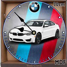 BMW M4 MDF Wall Clock Large 30CM /11.81in/ MDF CAN BE PERSONALISED