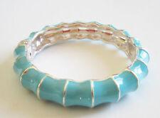Aqua Enamel Wavy Bracelet Rv$38 Gorgeous Premier Designs Jewelry Silver