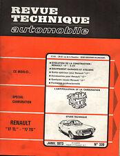 RTA revue technique automobile n° 320 RENAULT 17 TL TS R17 1973