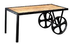 Cosmos Industrial Metal & Wood Cart Coffee Table
