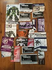 Transformers Instruction Booklets - Huge Lot!!!