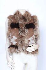 ELIZABETH & JAMES Fox Rabbit Raccoon Fur VEST Size M / L RARE