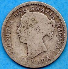 Canada 1894 10 Cents Ten Cent Silver Coin - Good