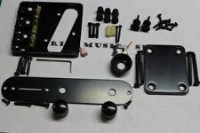 BLACK Telecaster Body HARDWARE SET w/ Wilkinson Bridge & Compensated Saddles