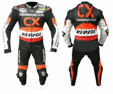 HONDA CX REPSOL  MOTORBIKE RACING LEATHER SUIT CE APPROVED