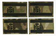 2 Parches (Pareja) bandera España IR fondo camuflaje multicam velcro trasero