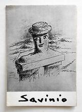 Savinio Invito-catalogo galleria Il Segno Roma 1974