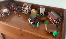 Train Village Mixed Pieces Mostly All Wood Some Christmas Theme