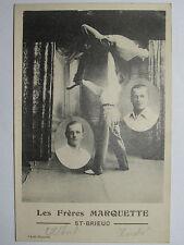 09C25 CPA CARTE POSTALE SPORT ATHLETES DE DUNKERQUE ACROBATES A ST- BRIEUC 1910