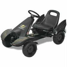 vidaXL Kart Pedales Ajustable Niños Negro Coche Cart Go-Kart Juguete Infantil