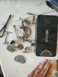 Necchi Sewing Machine parts lot  made in lately with box