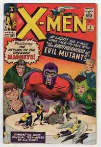Silver Age X-Men #4 1964 Marvel Comics First Scarlet Witch Stan Lee Jack Kirby