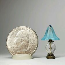 1:24 Miniature Frosted Glass Lampshade Crystal Lamp DollHouse Furnishings Light