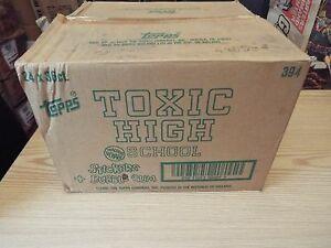 TOXIC HIGH SCHOOL FACTORY CASE OF 24 BOXES OF STICKERS / CARDS