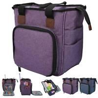 Large Yarn Storage Bag Knitting Crochet Tote Organizer Holder Portable Case UK