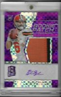 2018 PANINI SPECTRA BAKER MAYFIELD ROOKIE RC PATCH JERSEY AUTO NEON PURPLE 8/50