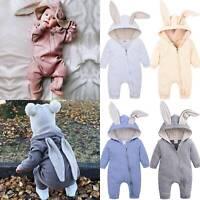 HOT! Toddler Newborn Baby Boy Girl Rabbit Bunny Hoodie Rompers Jumpsuit Easter