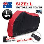 L Waterproof Outdoor Motorcycle Motor Bike Scooter Protector Dust Rain Cover
