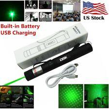 990miles Green Laser Pointer Pen Star Light Amazing Beam Rechargeable Usb Lazer