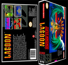Lagoon - SNES Reproduction Art Case/Box No Game. Super Nintendo