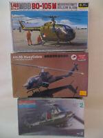 HUEY HOG MONOGRAM MBB B0-105M FUJIMI AH-1G HUEY COBRA SCALA 1:48