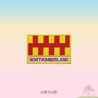 NORTHUMBERLAND UK County Flag With Name Embroidered Iron On Patch Sew On Badge