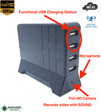 1080P HD Lawmate WIFI Wireless Hidden Camera DVR USB Charging Station Audio