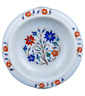 """9"""" Marble dry Fruit Bowl Floral handmade Inlay work Home / kitchen Decor"""