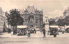 BRUXELLES BELGIUM PLACE ANNEESSENS~VENDORS~H M DOBRECOURT #193 POSTCARD 1900