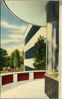 Calart Building East from Main Entrance vintage 1940 Providence RI LINEN AA-008
