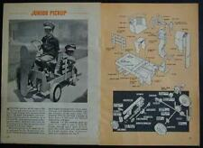 Junior Pickup Pedal Powered 1969 How-To build PLANS Belt Drive