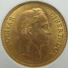Venezuela 1930 Gold 10 Bolivares  UNC