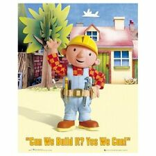 Cartel de Bob el constructor para niños Niños TV Wall Art Dormitorio Decoración Mini 679