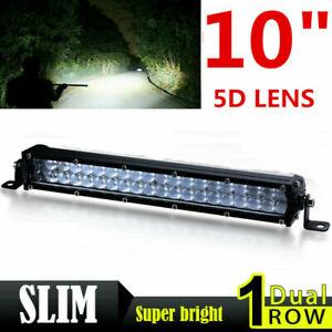 10inch 180W Slim LED Light Bar Dual Row Spot Work Boat SUV Offroad Truck 4WD ATV