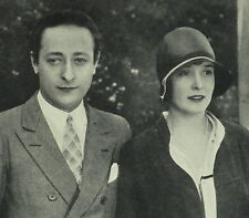 Violinist Jascha Heifetz and Florence Vidor 1929 Page Photo Study Article 6036
