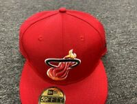 NEW ERA CAP MIAMI HEAT (RED)  59 FIFTY FITTED HAT