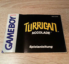 Nintendo Gameboy (GB) // Turrican - Anleitung/Instructions // dt. PAL