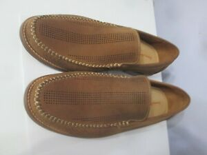 Tommy Bahama Felton Loafer Nubuck Perforated Slip-On Shoes brown men Size11.5M