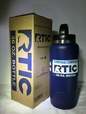 RTIC 36oz Stainless Steel Vacuum Insulated Water Bottle Navy Blue NEW