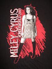 "2009 MILEY CYRUS ""Wonderworld"" Concert Tour (MED) T-Shirt HANNA MONTANA"