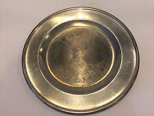 "Vintage Poole's Pewter Taunton, Mass. Pewter Serving Tray Platter, 14"" Diameter"