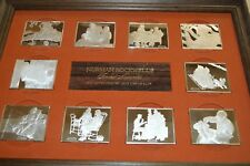 1973 NORMAN ROCKWELL FONDEST MEMORIES 10x .925 SILVER BARS 1st EDITION PROOF SET