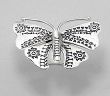 """2""""BIG Solid Sterling Silver Butterfly Ring Handmade Adjustable SZ6-9 GORGS 12.5g"""