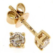 Solid 14K Yellow Gold 3.22 CT Real Natural Diamond Stud Push Back Fine Earrings