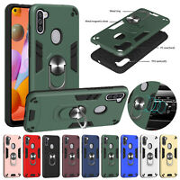 Shockproof Rugged Armor Hybrid TPU Stand Back Case Cover For Samsung Galaxy A11