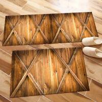 Kitchen Area Rugs Bedroom Rug Living Room Floor Mat Rustic Wood Barn Door Cross