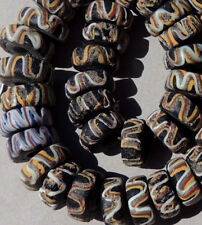 40 old antique venetian fancy beads african trade #1713