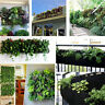 4 Pockets Vertical Garden Wall Planter Hanging Planting Flowers Bag FOR Herb6DS