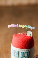 40 x Pasadores de Coser arco Pastel Patchwork Alfileres Hágalo usted mismo Herramienta Coser Accesorios de acolchar